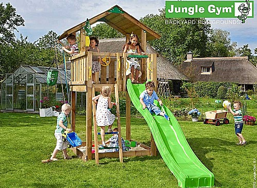 39 jungle gym wood kit chalet. Black Bedroom Furniture Sets. Home Design Ideas