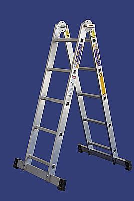 האופנה האופנתית סולם אלומיניום פרקים 2 מדרגים מקצוענים 4.8 מטר סולמות חגית דגם YK-73