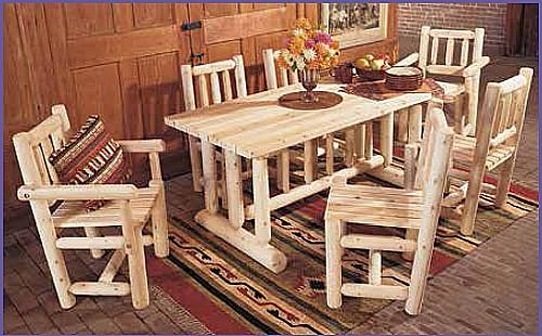 להפליא מערכת ישיבה לגינה עשויה עץ ארז קנדי מלא הכולל שולחן אוכל 173 ס''מ AL-51