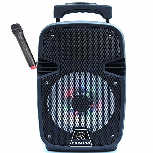 טוב מאוד בידורית קריוקי BLUETOOTH כולל מיקרופון אלחוטי 280 וואט PROXIMA M-280   ZG-24